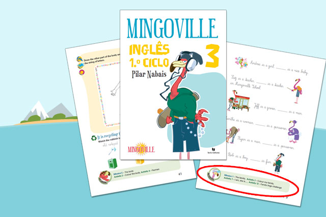 Mingoville English text books for kids