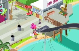 Balloon Blaster - Save the flamingo!